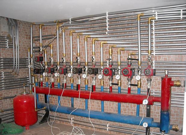 Распределительный пункт водяного отопления